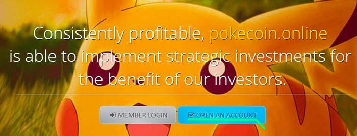 Как регистрироваться в Pokecoin Online 1